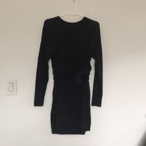 Club Monaco tie-waist merino wool sweater dress